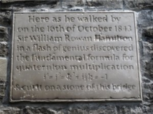 Plaque at Broom Bridge