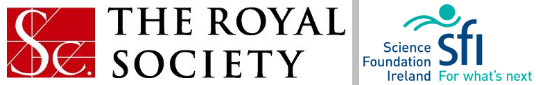 Logos of the Royal Society and Science Foundation Ireland.